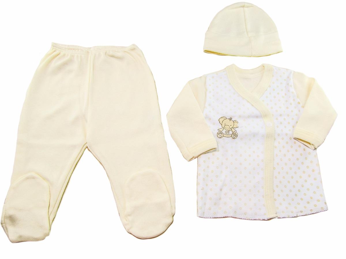 313e1e9b4 Ajuar 3 Piezas Recien Nacido Ropa Bebe Algodon -   150