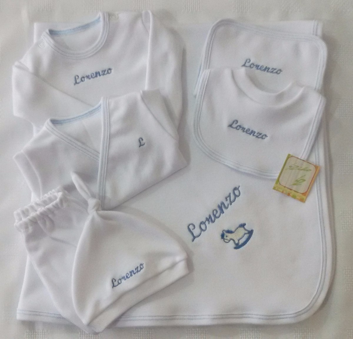 74211c75d ajuar 7 piezas personalizado regalo de nacimiento babyshower. Cargando zoom.