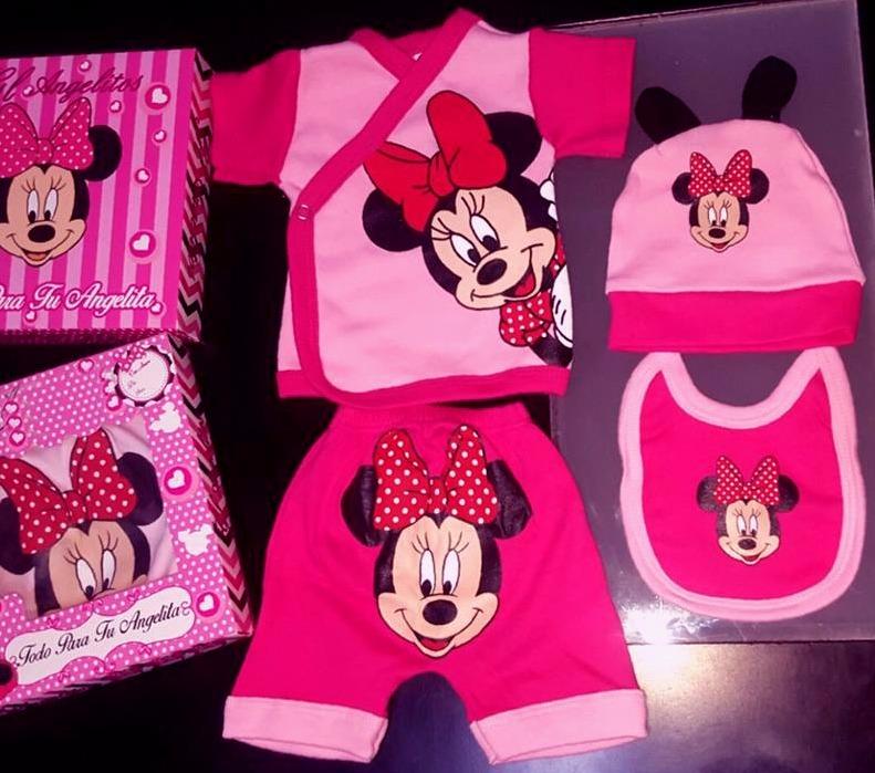 Ajuar De Nacimient Beba Minnie Mouse 4p Verano En Caja Regal - $ 506 ...