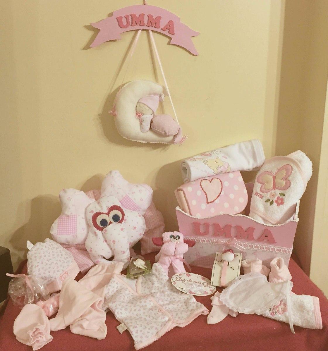 Ajuar Nacimiento Set Bebé Baby Shower Personalizado Completo ... 55678454df7c