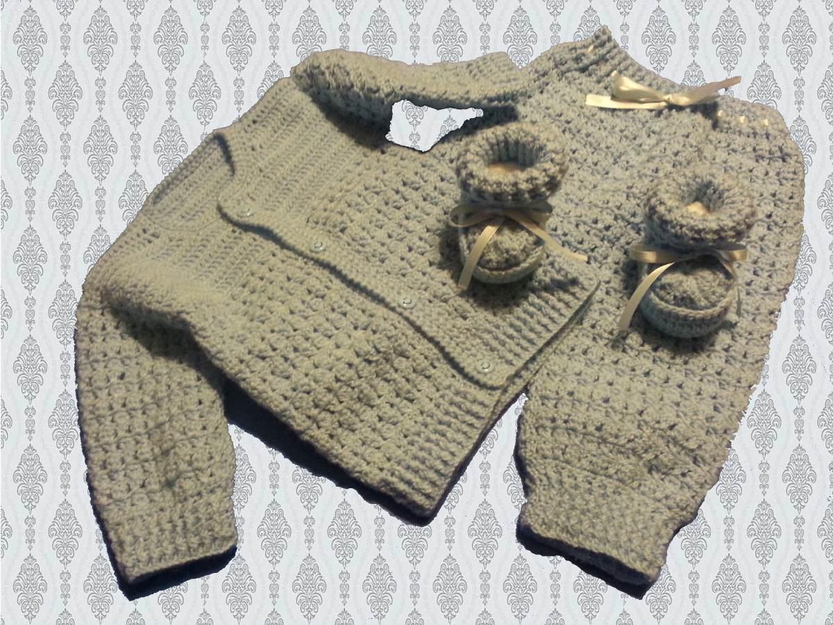 Ajuar De Bebe Tejido A Crochet - Ropa y Accesorios en Mercado Libre ...