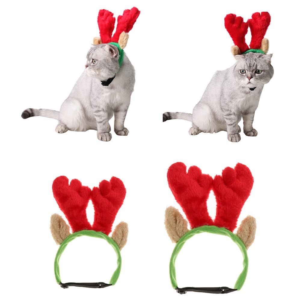 Ajustable Elastico Para Perro Y Gato Ciervo Navidad Cuerno 9543 - Ciervo-navidad