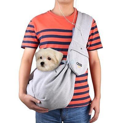 ajustable para mascotas perro portador bandolera viaje de ma
