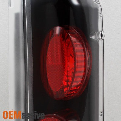 Fit 1989-1996 Ford Bronco F150 F250 F350 Black Tail Lights Lamps Replacement