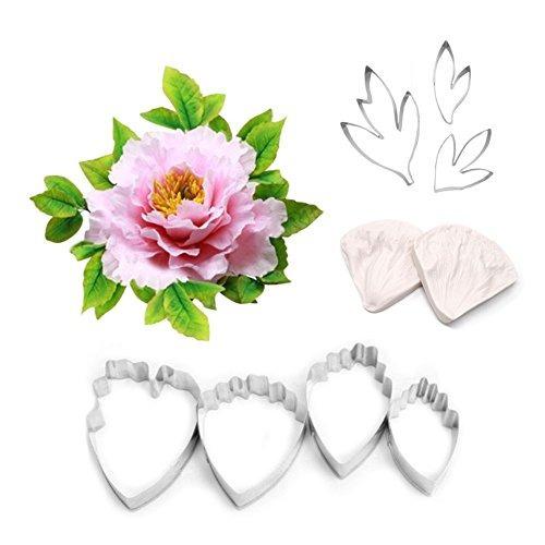 ak art kitchenware kit de herramientas de hojas y flores 7 p