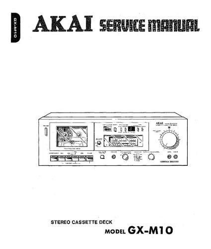akai gx-m10 - esquemas para serviço técnico