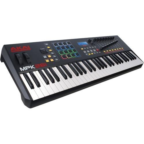 akai professional mpk261 61-teclas teclado midi usb/drum pad