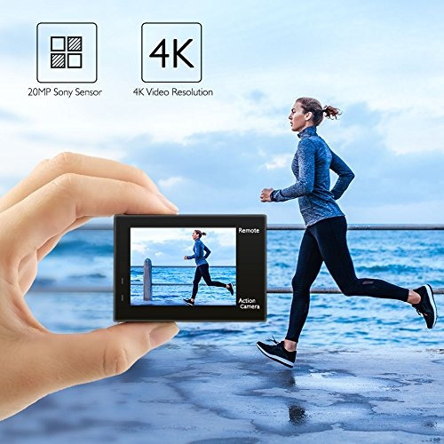 akaso brave 4 4k 20mp wifi camara de accion sony sensor ultr