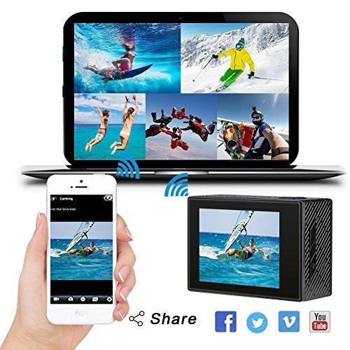 akaso brave 4 4k 20mp wifi cámara de acción sony ultra hd