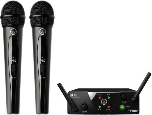 akg wms40 mini dual vocal microfono inalambrico mano doble