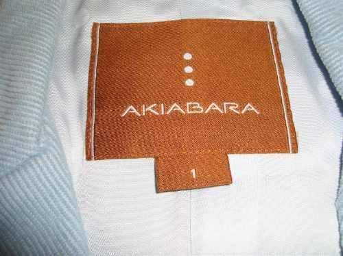 akiabara blazer saco corderoy celeste talle s (foto 2-3-4-5)