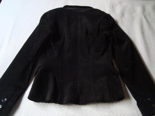 akiabara blazer saco corderoy negro s e.gratis cuotas foto 2