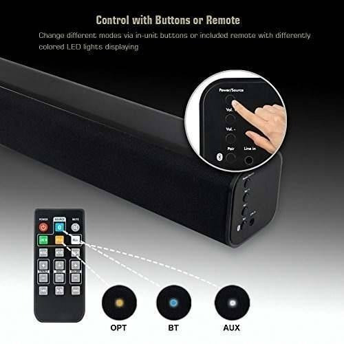 akixno bluetooth sound bar wireless and wired audio home the
