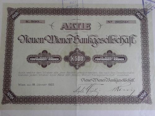 aktie bankgesellschalf - 1922.