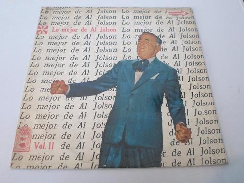 al jolson - lo mejor de al jolson vol 2 - vinilo argentino