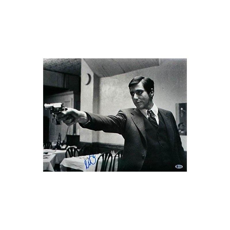 822eb8d6d532a Al Pacino Firmó Con El Padrino Michael Corleone 16x20 Gun Ph ...