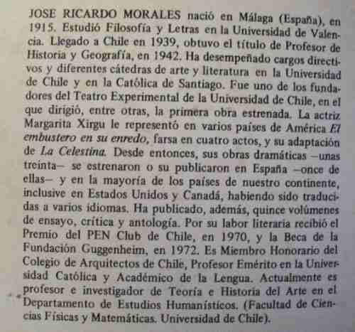 al pie de la letra jose ricardo morales universidad de chile