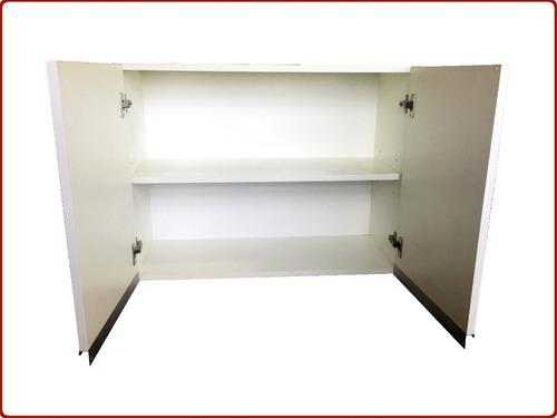 alacena 100 cmts melamina blanca 18 muebles cocina despensa