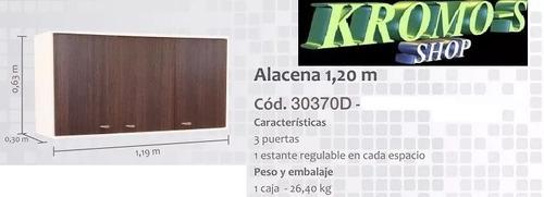 alacena 1,20 mt. platinum blanco - wengue kromo-s