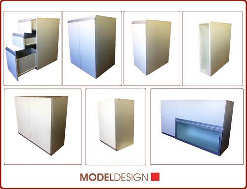 alacena 60 cmts. rebatible con perfil de aluminio y vidrio
