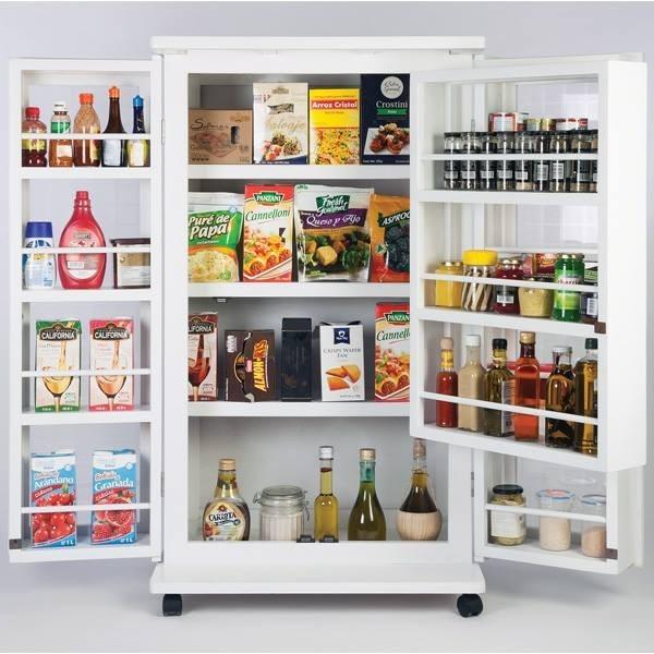 Alacena blanca ahorra espacio gabinete porta microondas for Cocinas profesionales para el hogar