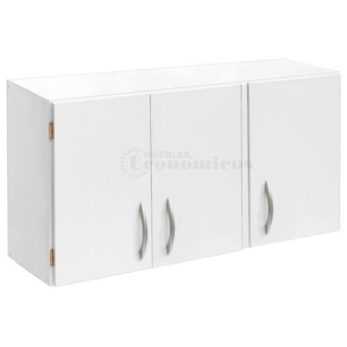 alacena cocina armada 100cm 3 puertas estante 1 metro 3ptas - armario organizador melamina lavadero - muebles económicos