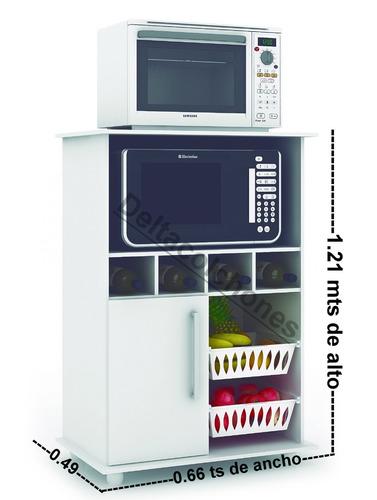 Mueble para microondas frutero alacena kit de cocina - Fruteros de cocina ...