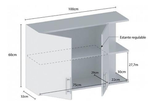 alacena con puerta y estantes de 1 mt centro estant g4bl+