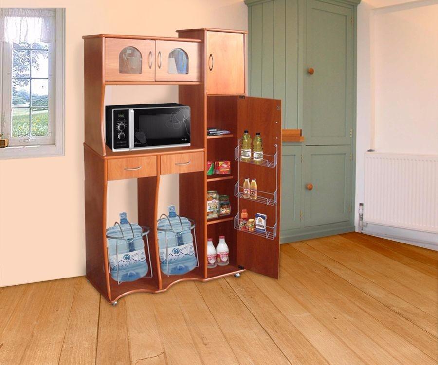 Alacena c porta garrafon sagitario chocolate estilo for Poner muebles de cocina