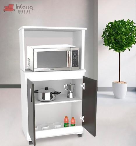 Alacena porta microondas para cocina granada minimalista for Cocinas granada precios
