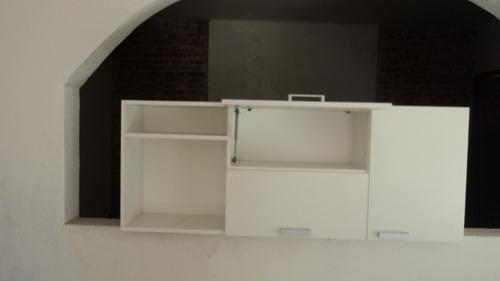 alacena porta microondas 2 puertas revaibles 1 lateral