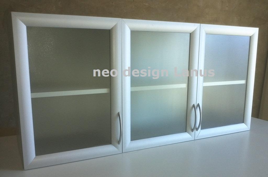 Alacena Puertas Verticales Vidrio, Marco Aluminio - Fabrica ...