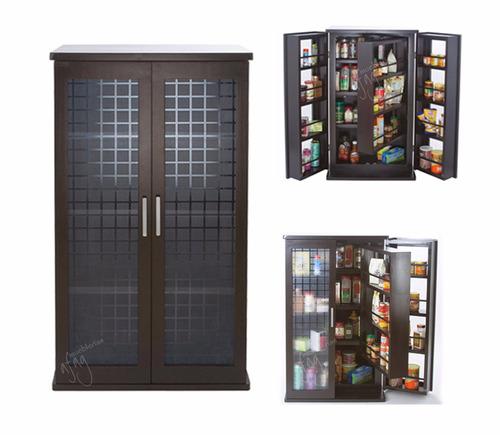 Alacena roja ahorra espacio gabinete porta microondas - Muebles ahorra espacio ...