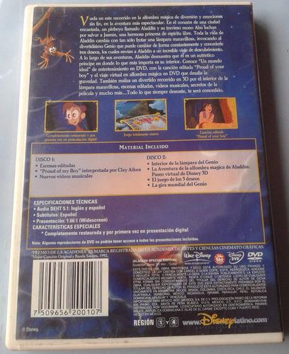 aladdin dos dvd 1a ed mexico subtitulos y hablada en español