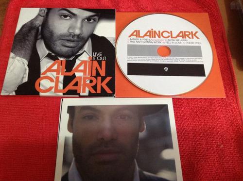 alain clark live it out   cd sencillo