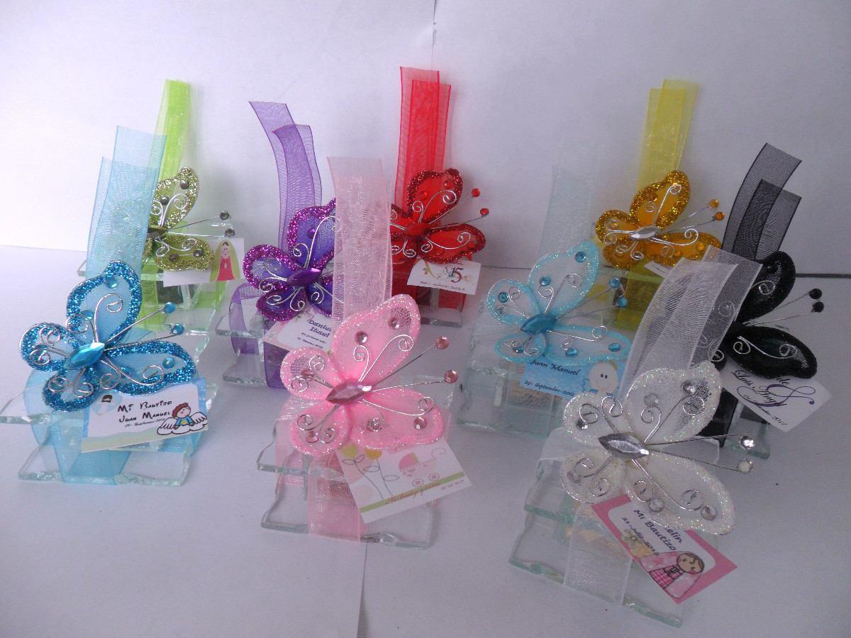 Alajeros de vidrio recuerdo para bautizo comunion xv a os - Decoracion barato ...