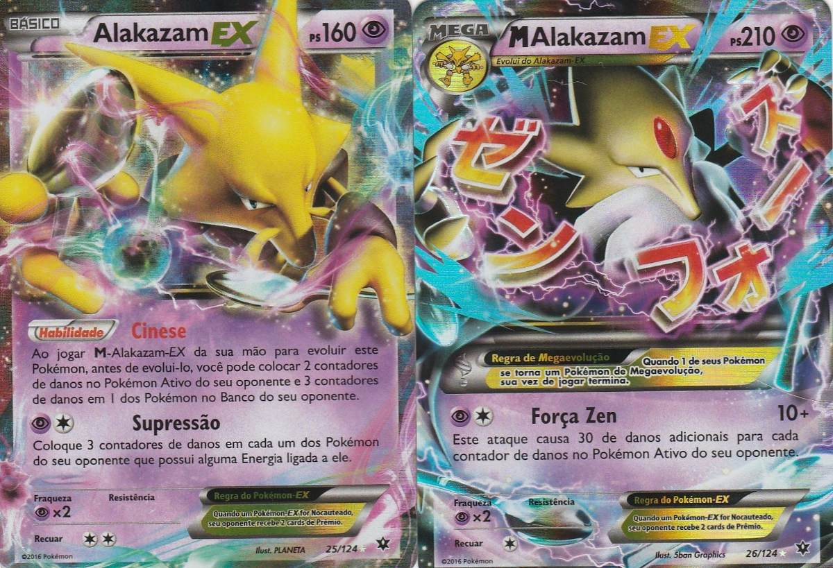 Alakazam Ex Mega Alakazam Ex Carta Pokemon Tcg Português R 79
