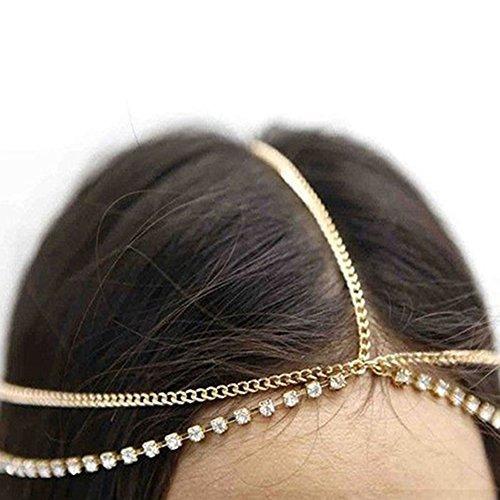 alamana rhinestone bohemio encapuchado cabeza de cadena hea