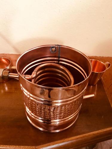alambique de cobre puro com capacidade de 20 litros