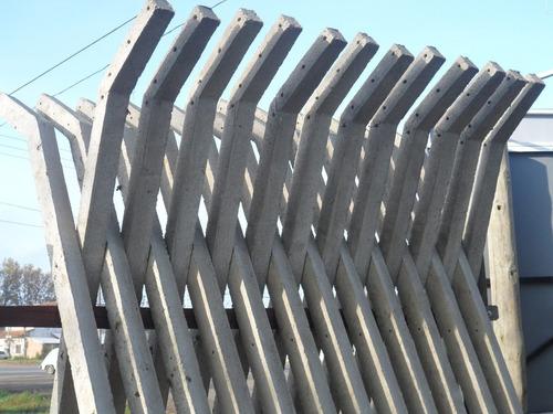 alambrado perimetral postes de cemento