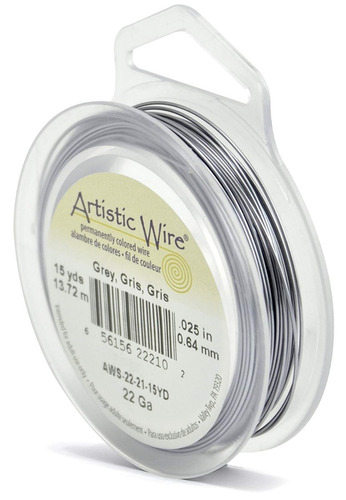 alambre artístico negro/gris/morado 13 mtx64mm bisuteria