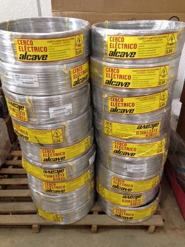 alambre cerco electrico 300 mts 2.05mm aluminio alcave resid