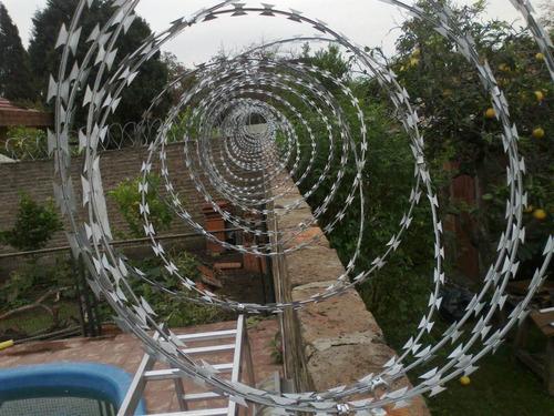 alambre concertina doble torcion 45cm x 10m