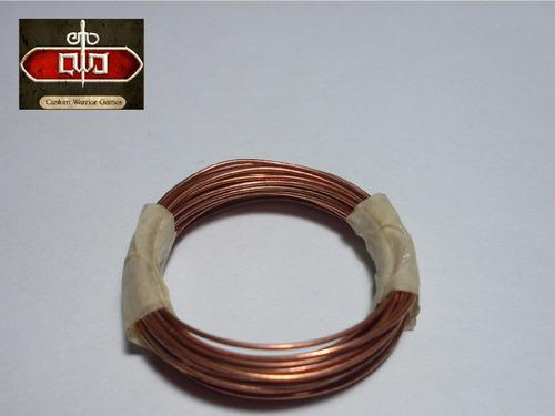 alambre de cobre 2mm por metro - custom warrior games