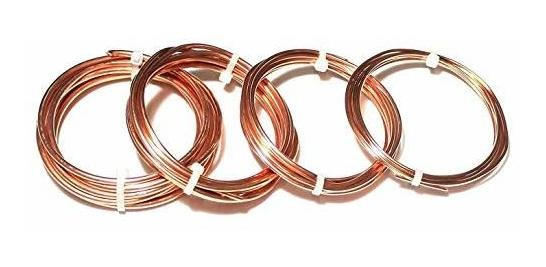 """SOFT  Solid Copper /"""" USA/"""" 20 Ft. Coil 10 Ga Copper Jewelry /& Craft Wire"""