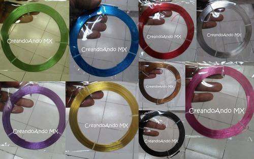 alambre para bisuteria aluminio 1 mm x 10 mts color plata