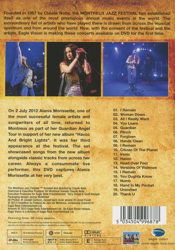 alanis morissette - live at montreux 2012 [dvd] importado