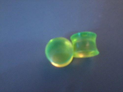 alargador 10mm verde fechado ( par )
