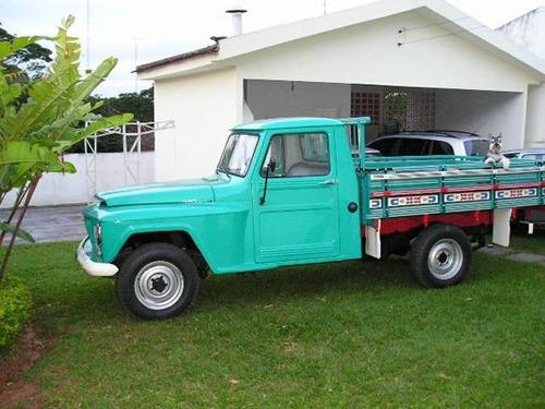 alargador borracha pick-up  f75 willys ford carrocª madeira