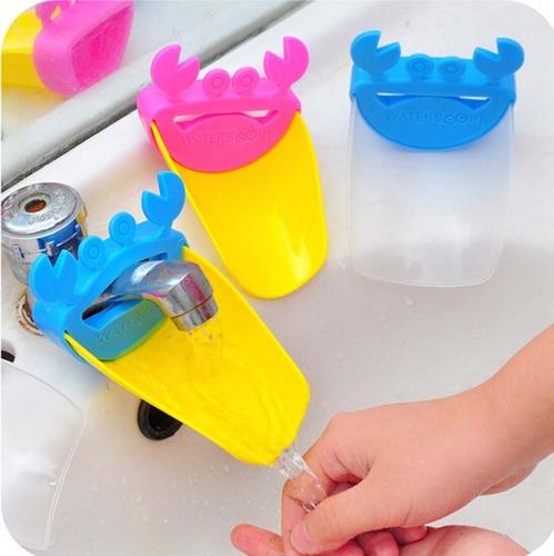 alargador de grifo niños lavamanos